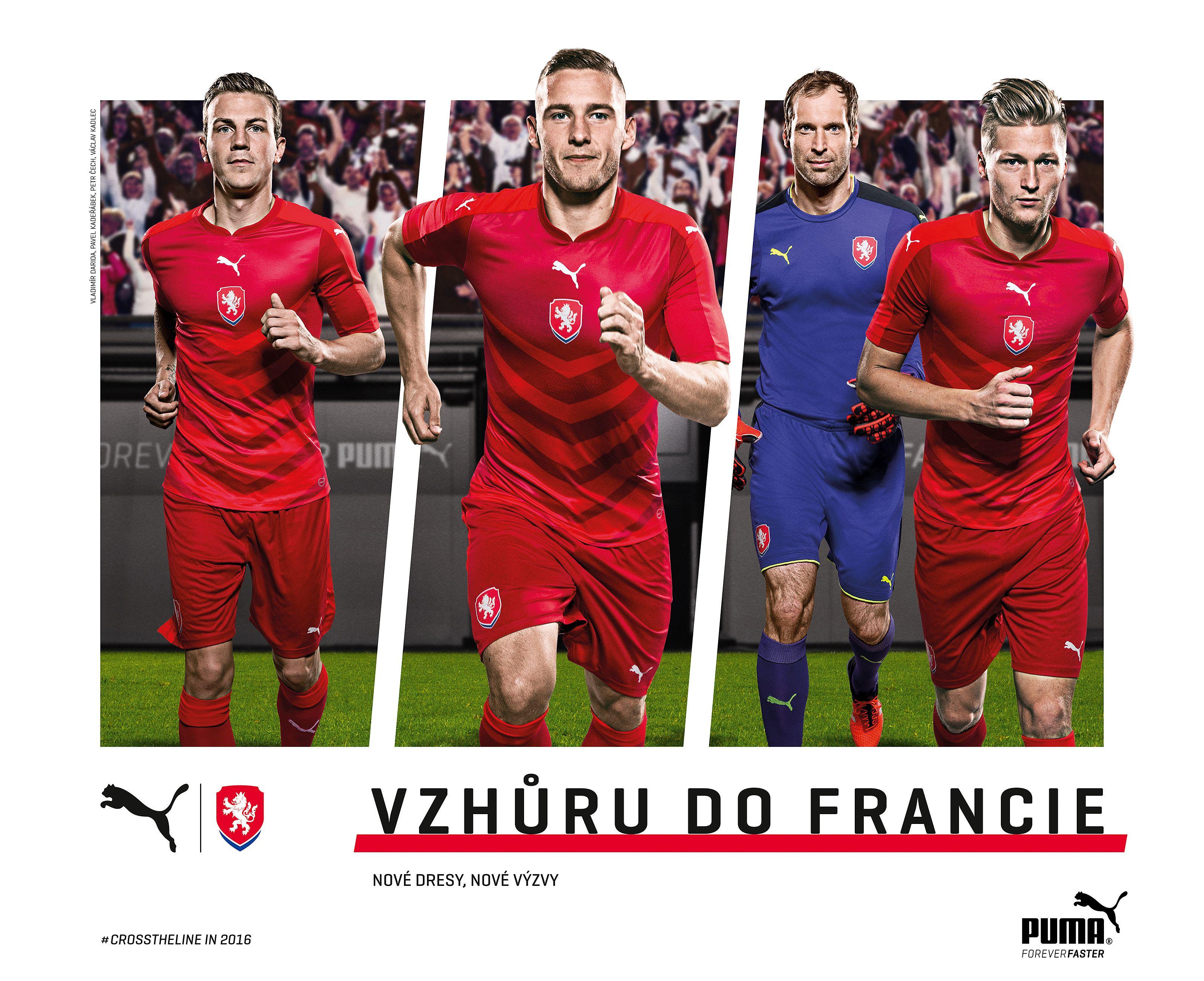 2f3897cfcf Sportovní značka PUMA a Fotbalová asociace České republiky představily nové  celočervené dresy